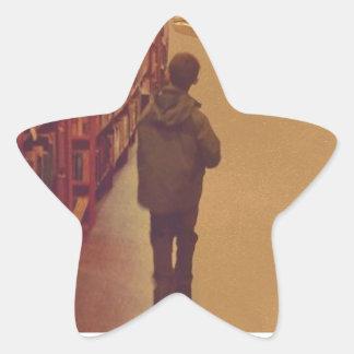 Library walk star sticker