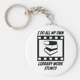 Library Work Stunts Keychain
