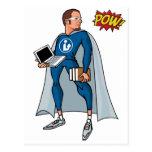 ¡Libraryman con el PRISIONERO DE GUERRA! Tarjeta Postal
