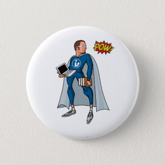 Libraryman with POW! Button