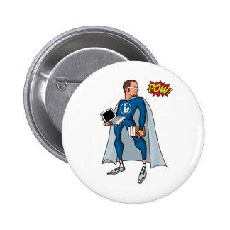 Libraryman with POW! Button