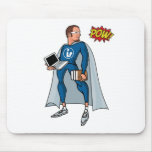 Libraryman with POW! Mouse Pad