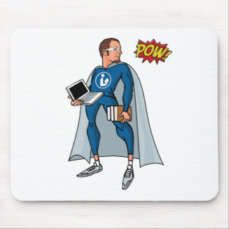 Libraryman with POW! Mouse Pads
