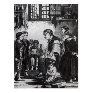 Libras de Juan que enseñan a niños en su hogar Postal
