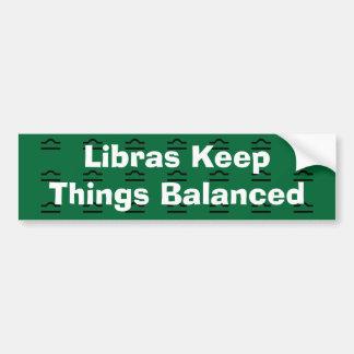 Libras mantiene cosas equilibradas pegatina para auto