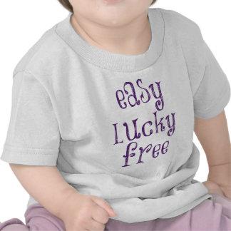 Libre afortunado fácil camiseta