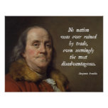 Libre cambio de Benjamin Franklin Poster