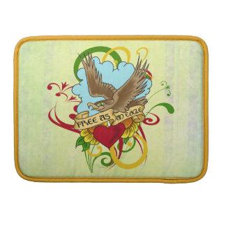 Libre como diseño del tatuaje de Eagle Funda Para Macbook Pro
