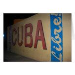 libre de Cuba Tarjetón