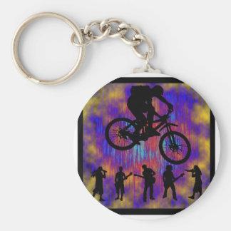 Libre de piedra de la bici llavero