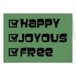Libre feliz feliz felicitaciones