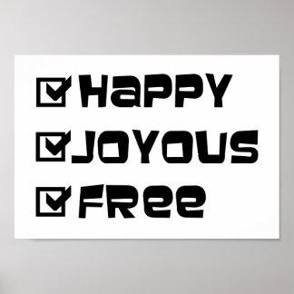 Libre feliz feliz impresiones