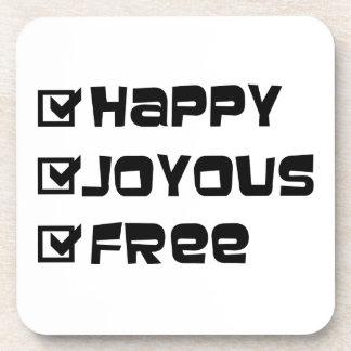 Libre feliz feliz posavaso