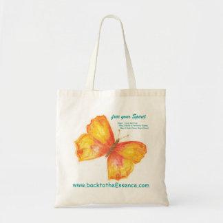 """""""libre la bolsa de asas natural del logotipo de la"""