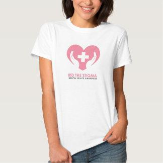 Libre la camiseta blanca del estigma poleras