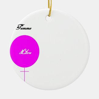 LIBRE.png WOMAN Ceramic Ornament