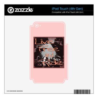 Libre vivo y paseo enmarcados iPod touch 4G skin