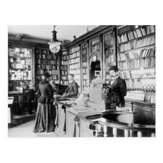 Librería, 1895 postales