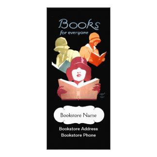 Librería o biblioteca del vintage personalizada lona personalizada