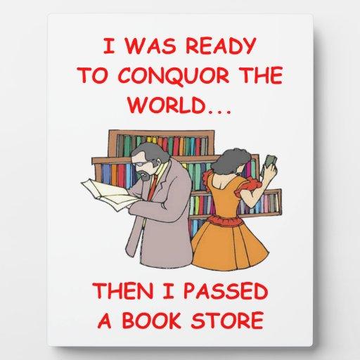 librería placas con fotos