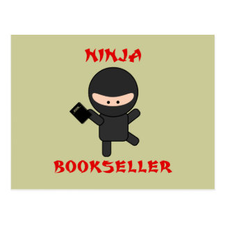 librero del ninja con el libro postal