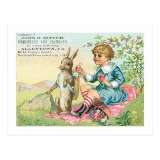 Librero y librero Pascua de Juan H Ritter Tarjeta Postal