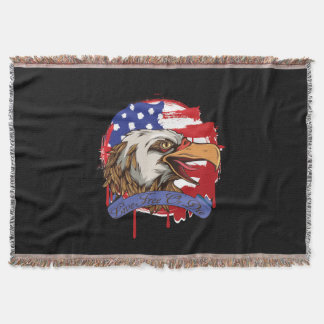 Libres vivos calvos de Eagle de la bandera Manta