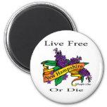 Libres vivos de la lila púrpura de New Hampshire o Imán Para Frigorífico
