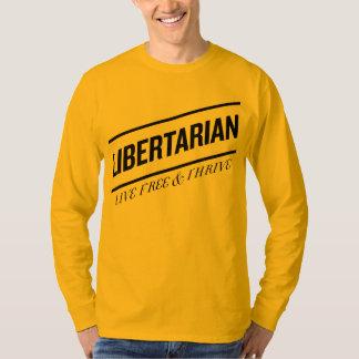 Libres vivos del libertario y prosperan playera