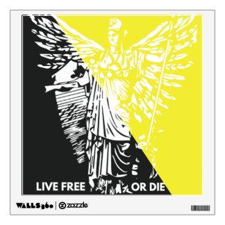 ¡Libres vivos o mueren! Etiqueta de la pared Vinilo Adhesivo