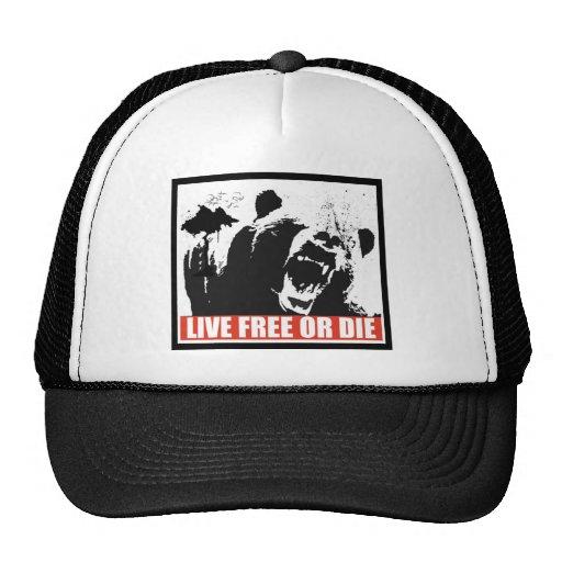 Libres vivos o mueren gorras de camionero