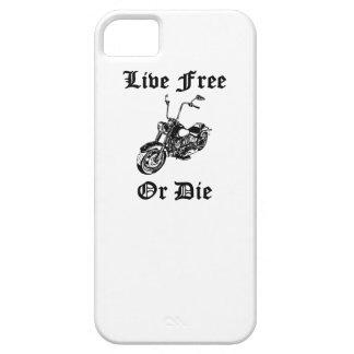 Libres vivos o mueren motocicleta iPhone 5 Case-Mate cobertura