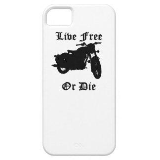 Libres vivos o mueren motocicleta iPhone 5 Case-Mate protector