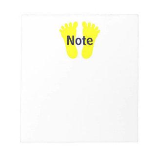 Libreta 2 de la nota del pie bloc de papel