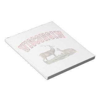 Libreta 5.5x6 de la escena de los ciervos de Wisco Bloc De Notas