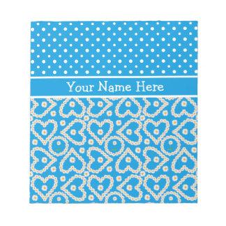 Libreta a personalizar: Polcas, margaritas, azules Bloc De Notas
