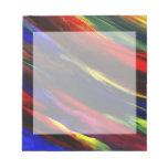 Libreta abstracta de acrílico vibrante de la front blocs de notas