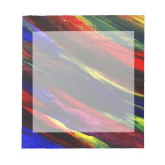Libreta abstracta de acrílico vibrante de la front bloc de notas