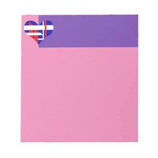 Libreta abstracta del corazón bloc de papel