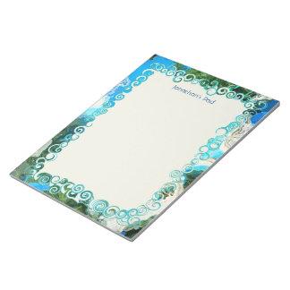 Libreta abstracta del personalizado de las azules libreta para notas