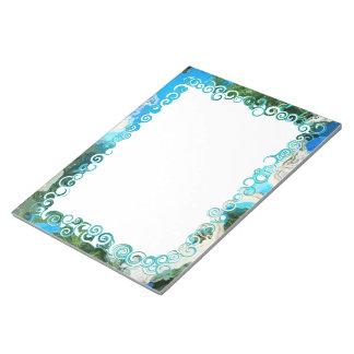 Libreta abstracta del personalizado de las azules bloc de notas