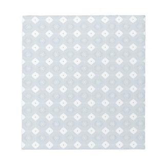 Libreta abstracta elegante del azul del diamante bloc de papel