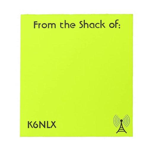 Libreta aficionada de la muestra de la llamada por bloc de notas