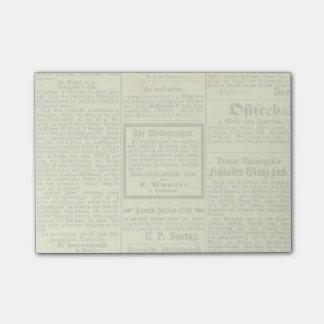 Libreta alemana del periódico del vintage notas post-it®