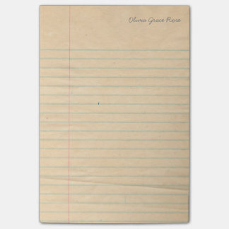 Libreta alineada personalizada del papel del post-it® notas