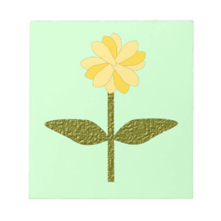 Libreta amarilla de la flor de la margarita bloc de notas
