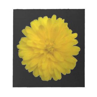 Libreta amarilla de la maravilla bloc de notas