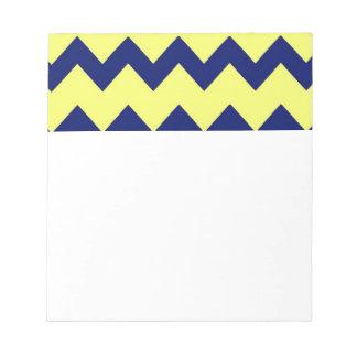 Libreta amarilla de los galones de la marina de gu bloc de papel