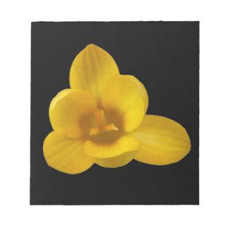 Libreta amarilla del azafrán bloc de notas