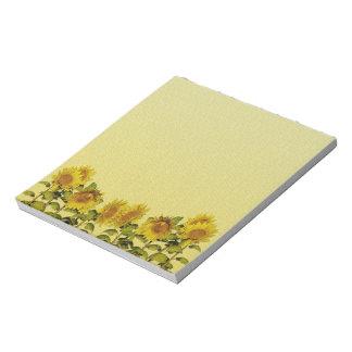 Libreta amarilla del girasol bloc de papel